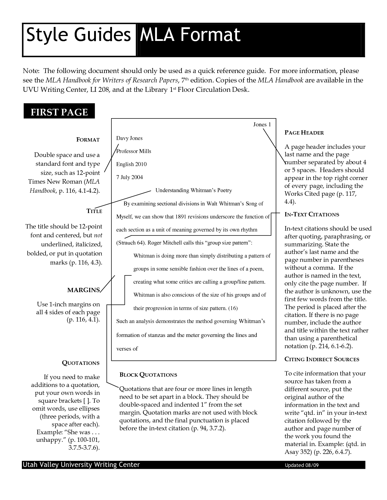 mla style headers How to properly format the mla format heading this page contains general guidelines on how to properly format the heading on your research paper using the mla.