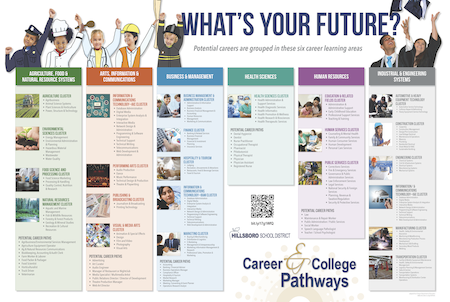 Graphic chart of career learning areas