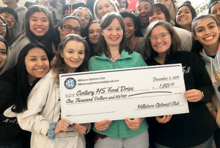 Century Students and Hillsboro Optimists Team Up To Fight Hunger