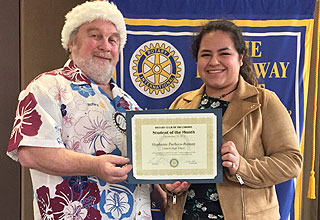Stephanie Pacheco-Roman: Glencoe High Rotary Student of The Month